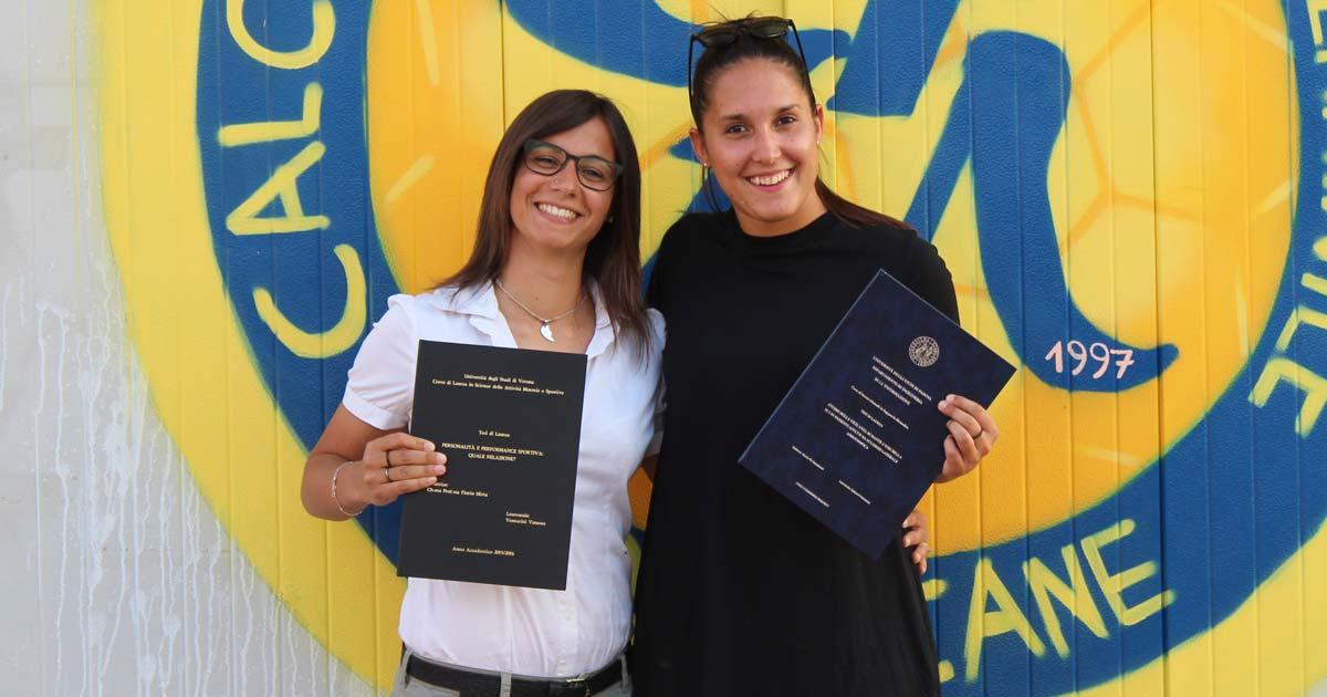 Vanessa e Francesca laureate… e adesso? «Studio e pallone sono la nostra vita. Pensiamo al futuro»