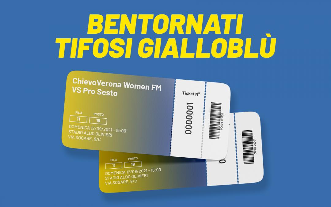 Chievo Women-Pro Sesto, info biglietti